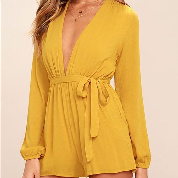 cbd1d01e628 OUTSPOKEN GOLDEN YELLOW LONG SLEEVE ROMPER